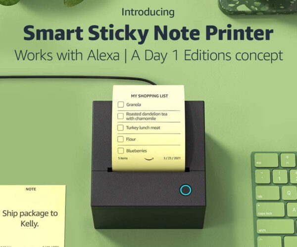 Amazon Releasing an Alexa-Enabled Sticky Note Printer