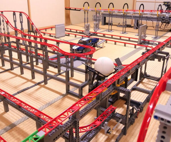 Take A POV Ride Around This 224-Foot Long LEGO Roller Coaster