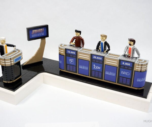 A LEGO Jeopardy! Kinetic Sculpture Built in Tribute to Alex Trebek