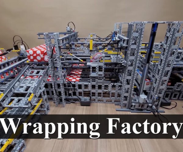 An Automated LEGO Gift-Wrapping Machine: Move Over, Gift Bags