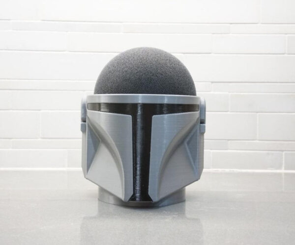 A Mandalorian Helmet Amazon Echo Dot Speaker Holder: I Have Spoken