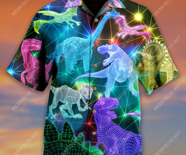 Finally, The Neon Laser Wireframe Dinosaur Shirts We've All Been Waiting For