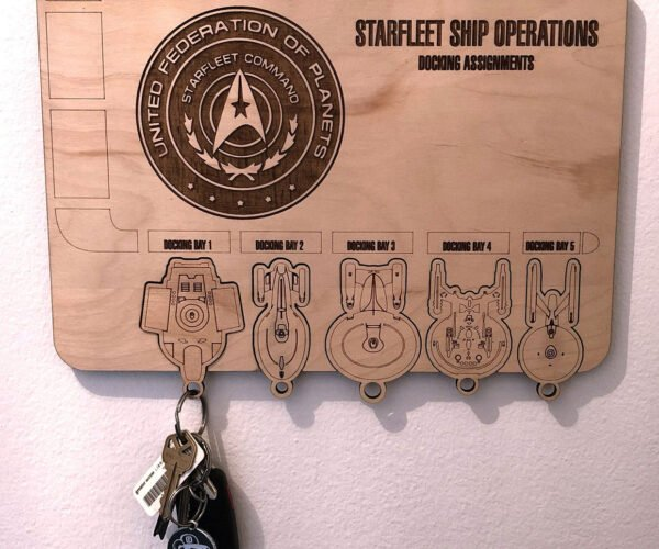 Dock Your Keys in This Star Trek Federation Key Holder