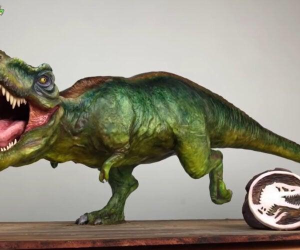 Creating a Hyperrealistic T-Rex Cake: A Roaring Good Dessert