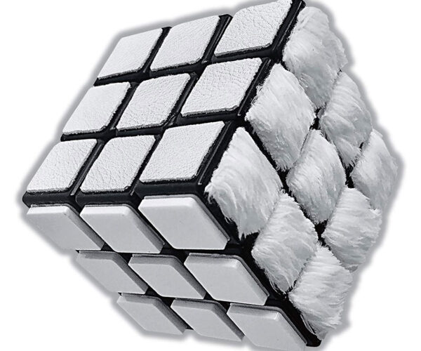 All-White Rubik's Cube: Just as Hard as the Original