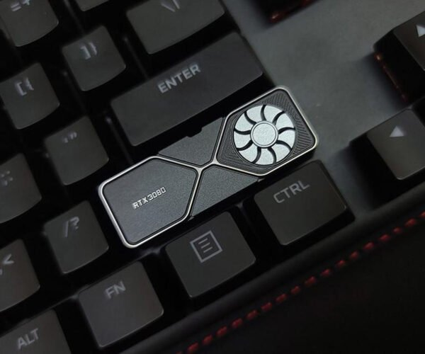 GeForce RTX 3080 Graphics Card Keycap Has a Spinnable Fan