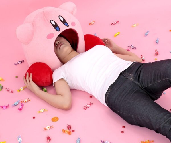 Finally, A Pillow That Lets You Sleep With Your Head Inside Kirby's Mouth
