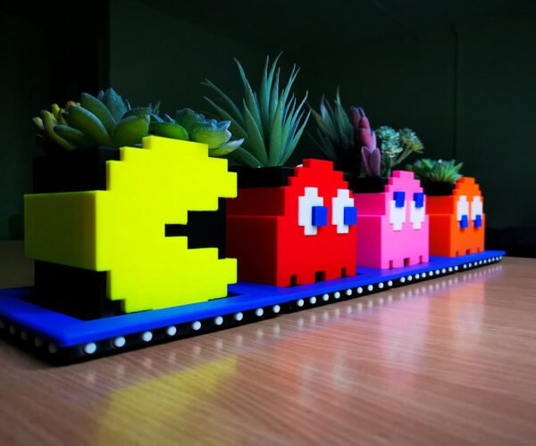 Pac-Man and Ghost Planters Gobble Up Dirt and Power Pills