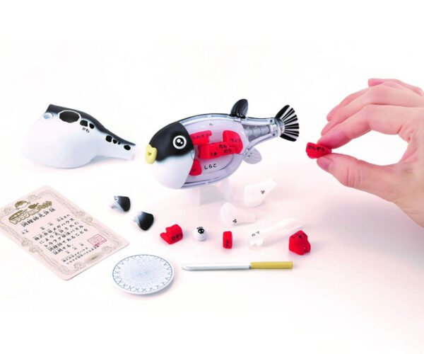 3D Blowfish Sashimi Puzzle: Don't Eat the Poisonous Pieces