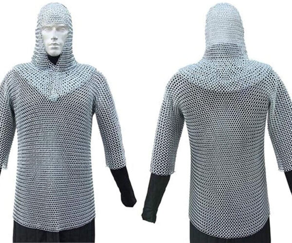 Medieval Chain Mail Shirt And Coif: Squire, Ready My Mount!