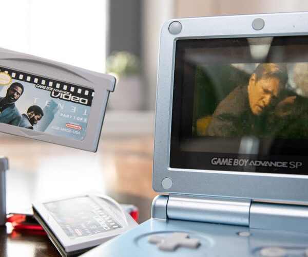 Man Watches Christopher Nolan's 'Tenet' on Game Boy Advance