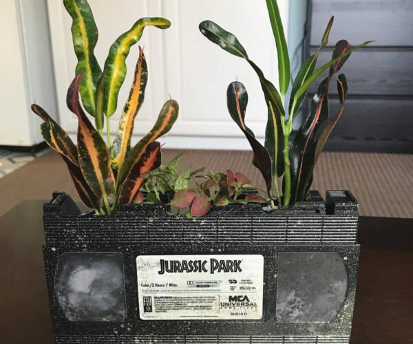 VHS Tapes Repurposed as Planters: Captain Planet Would Be Proud