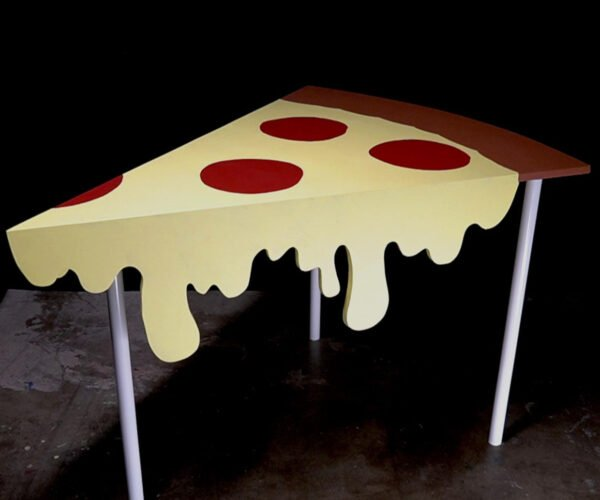 How To Make Your Own Giant Dripping Cheese Pizza Slice Table