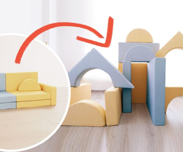 Magnus, A Modular, Magnetic Children's Sofa for Making Furniture Forts