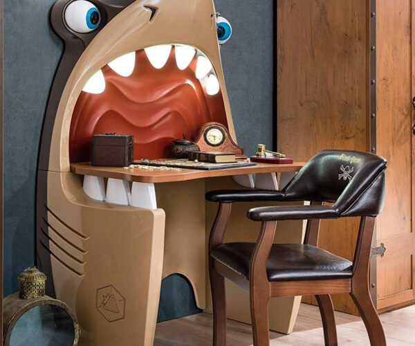 Cartoon Shark Wall Desk: You're Gonna Need A Bigger Boat