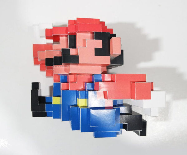 Craft Your Own 3D Pixelated Papercraft Mario Figure: It's-a Me, Mario!