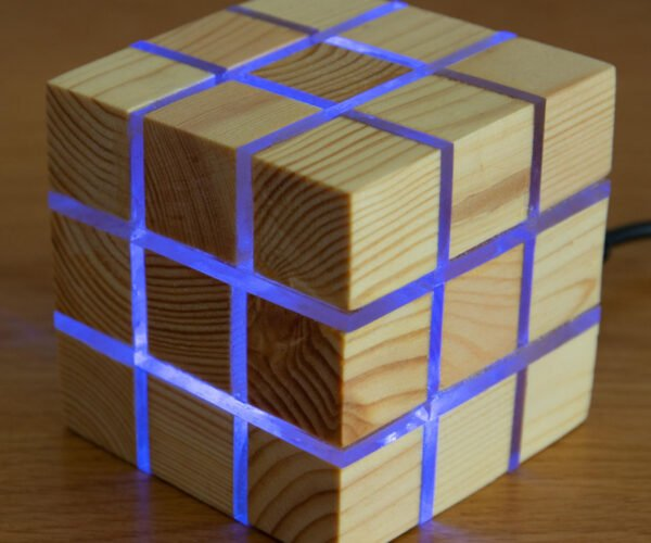 Make Your Own Rubik's Cube Inspired Wooden LED Light