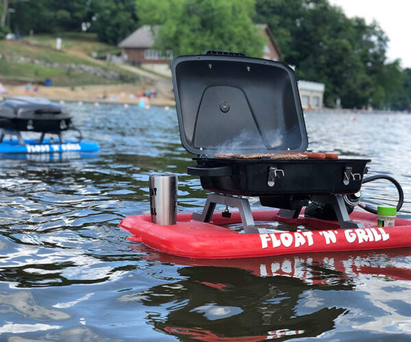 The Float 'N' Grill, A Floating Propane Grill for Cooking on the Water