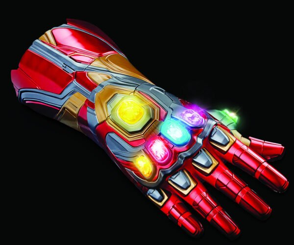 Wearable Iron Man Nano Gauntlet with Removable LED Infinity Stones: The Snapper