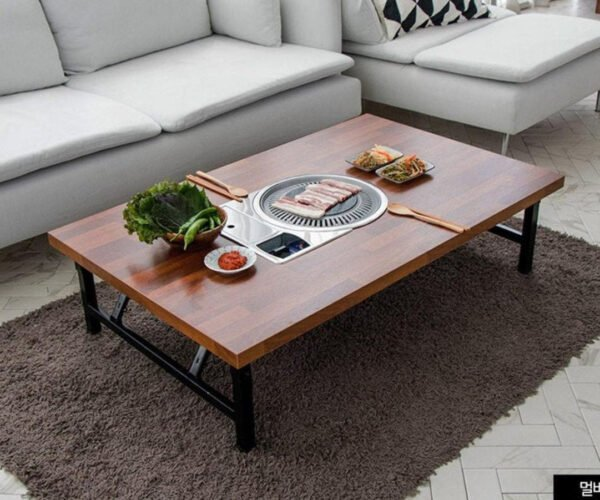 Korean BBQ Coffee Table: For Proper TV Dinners