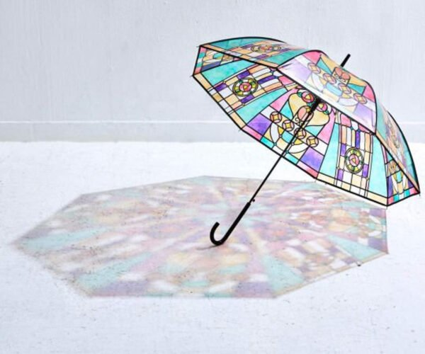 Stained Glass Inspired Umbrella Casts A Colorful Shadow
