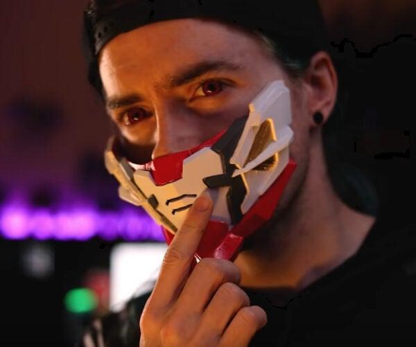 DIY 3D Printable Mecha and Sci-Fi Face Masks: Man & Machine, Sanding Extreme