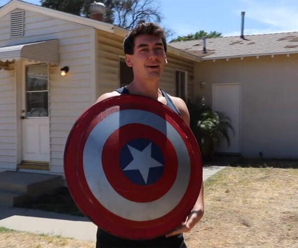 DIY Captain America Shield Can Bounce Back: Fibers, Assembled