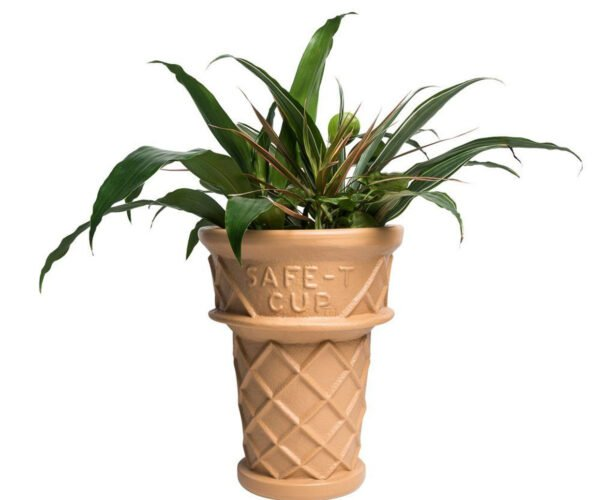 Giant Ice Cream Cone Planter: You Have to Eat Your Greens