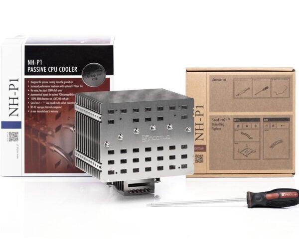 Noctua NH-P1 Passive CPU Cooler Can Take on 125W Chips: Fanless Fin Fun