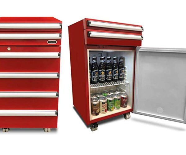 Red Tool Chest Mini Fridge: Beers Are Tools, Right?