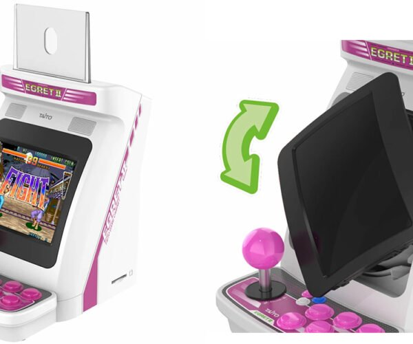 Taito Egret II Mini Arcade Cabinet Can Switch from Landscape to Portrait: Old Bird, Old Trick
