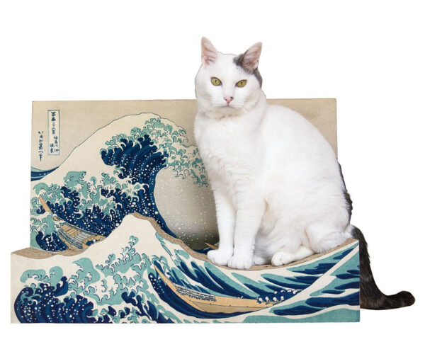 The Great Wave off Kanagawa Cat Scratching Post: Fine Art for Felines