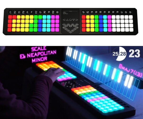 Theoryboard MIDI Controller Has a Whopping 96 Buttons: Every Row Has Its Chord