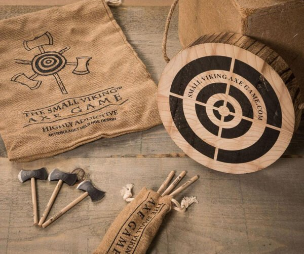 Tiny Axe-Throwing Game Played with Real, Miniature Axes