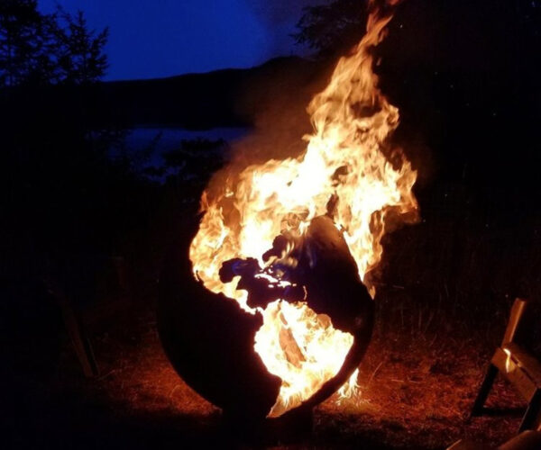 Extremely Accurate Globe Fire Pit: The World Is Burning