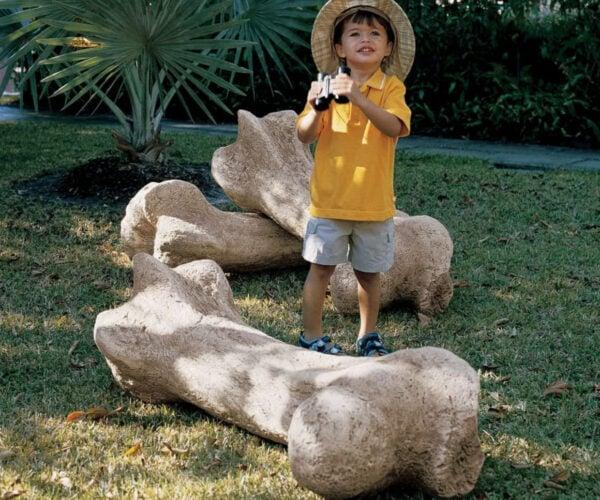 Giant Dinosaur Bone Lawn Ornaments: Jurassic Park at Home