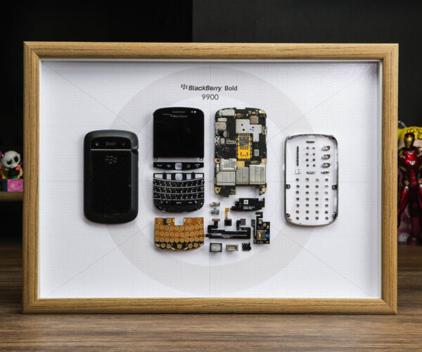 Disassembled Gadget Art: Where Old Smartphones Go to Die