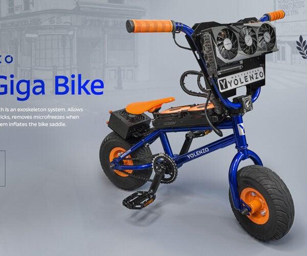 The EXO Giga Bike is a Custom PC in a Bicycle: BMX On