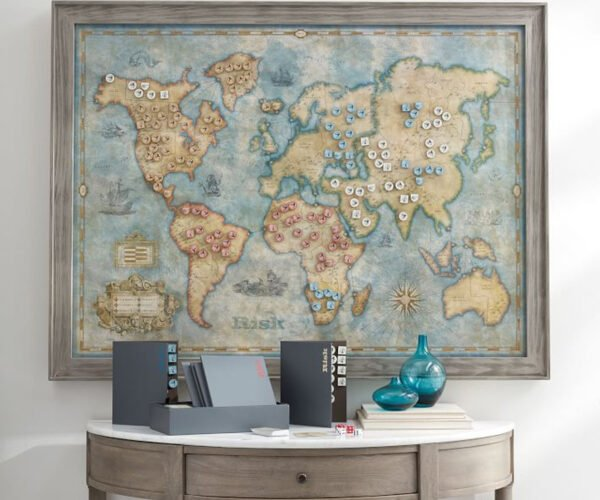 Giant Wall-Mounted Risk Game: World Domination on an Epic Scale