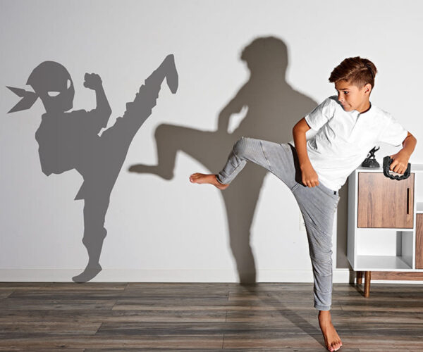 Shadow Fighter Projection Game Allows You to Practice Sparring with a Shadow