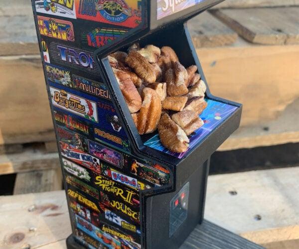 Retro Arcade Squirrel Feeder: Insert Coin for Nuts