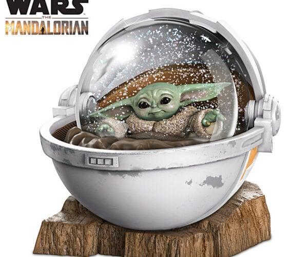 Baby Yoda Glitter Globe Sets a Snowy Star Wars Scene