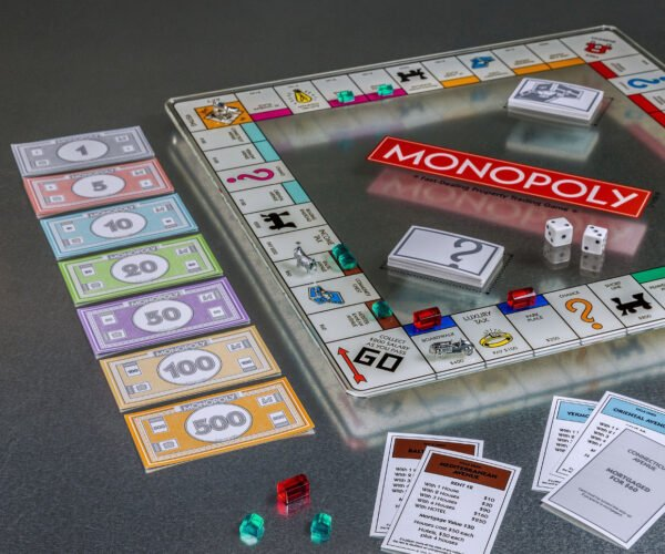 Monopoly Glass Edition Features a See-through Game Board