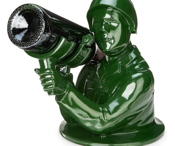 Green Army Man Wine Bottle Holder: Fire in the Hole!