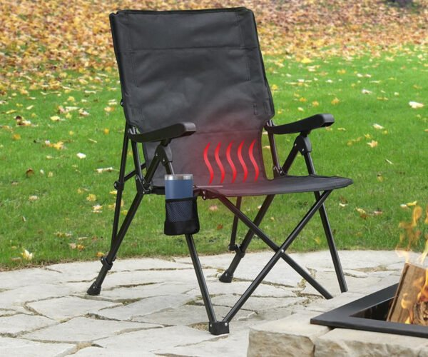 Finally, The Heated Outdoor Folding Chair You've Been Waiting For