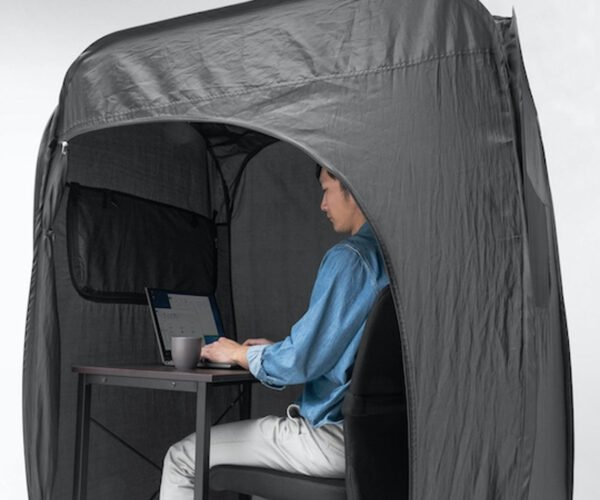 Indoor Pop-Up Privacy Work Tent: Nothing to See Here