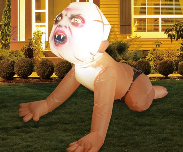 4-Foot Inflatable Zombie Baby Yard Decoration Is a Real Product That Exists