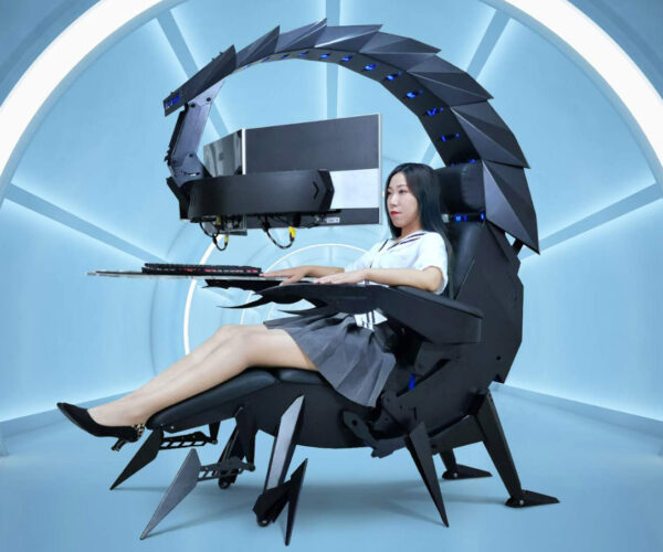 Giant Scorpion Inspired Reclining PC Immersion Rig
