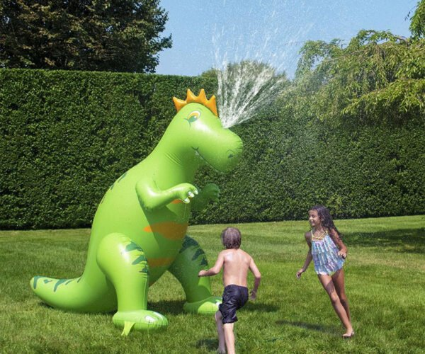 The Sprinklesaurus is a Water-breathing Dinosaur for Your Yard