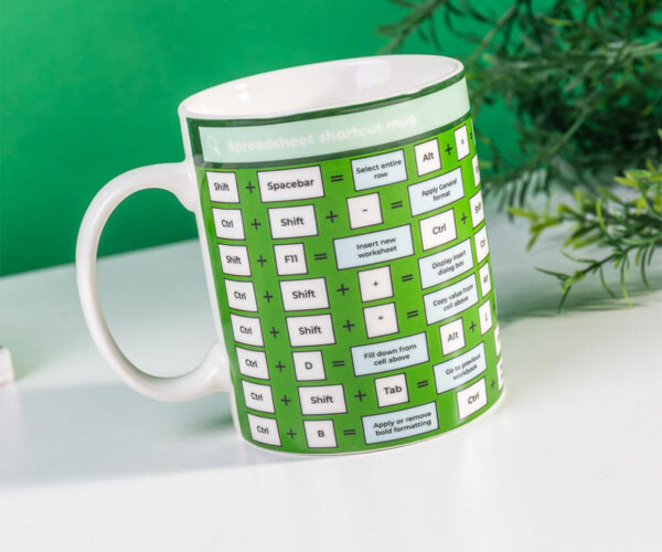 Excel at Sipping Coffee with the Spreadsheet Shortcut Mug
